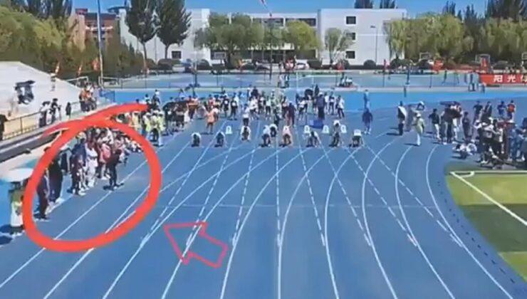 Sıradan bir yarışmaya kameramanın hızı damga vurdu! Her gören aynı yorumu yapıyor