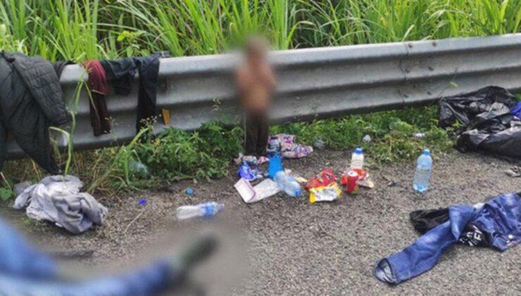 Babasıyla göç yolculuğuna çıkan 2 yaşındaki çocuk bir cesedin yanında yarı çıplak bulundu