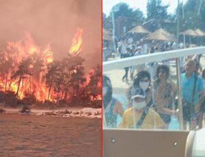 Bodrum ve Milas'ta alevler büyük otellere dayandı! Turistler teknelerle tahliye edildi