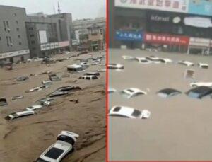 Çin'de sel felaketi! En az 12 kişi öldü, 100 binin üzerinde kişi ise tahliye edildi