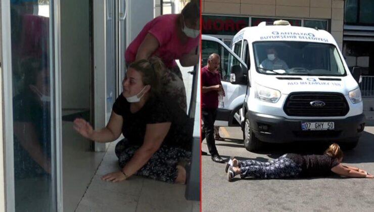 Çocuğu havuzda boğulan acılı anne, cenaze aracının önüne yatıp feryat etti: Cenaze arabası beni çiğnesin, çocuğuma sahip çıkamadım