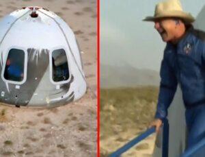 Dünyanın en zengini Jeff Bezos'un uzay yolculuğu başarıyla tamamlandı