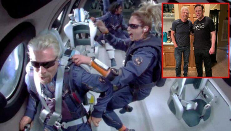 Dünyanın gözü bu uçuştaydı! Elon Musk, tarihi uçuş öncesi Richard Branson'u ziyaret etmiş