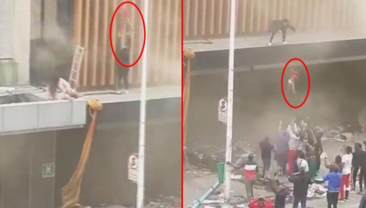 Güney Afrika'da dehşet anları! Ateşe verilen binada mahsur kalan anne, çocuğunu aşağı atarak kurtardı