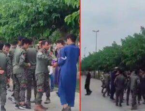 İstanbul sahilinde dikkat çeken olay! Yabancı uyruklu kişiler askeri üniformalarla görüntülendi