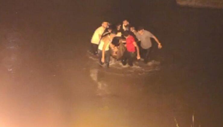 Köprüde selfie çeken kadın, Dicle Nehri'ne düştü! Yardımına vatandaşlar koştu