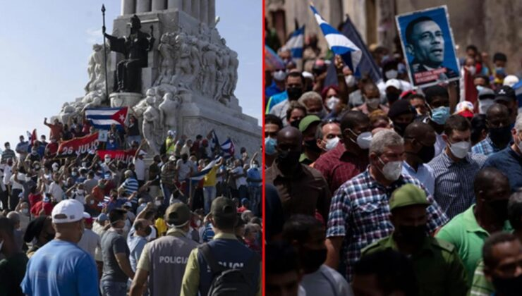 Küba'da ekonomik kriz halkı sokağa döktü! Tarihin en büyük hükümet karşıtı gösterisi ülkeyi karıştırdı