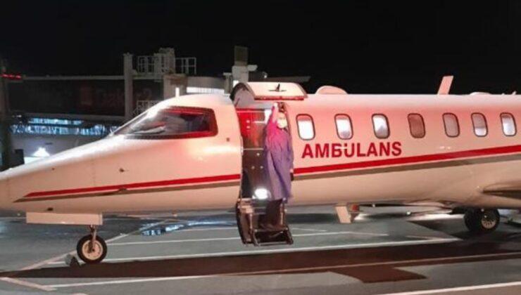 Liberya'da çalışırken sıtma teşhisi konan İzmirli Ersin Akan, ambulans uçakla Türkiye'ye getirildi