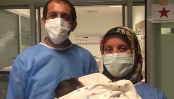 Mide kanaması geçiren bebek, tedavisinin ardından sağlığına kavuştu