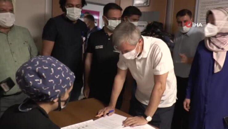 Müdür Tiryaki ve Başkan Tahmazoğlu 3. doz aşısını oldu