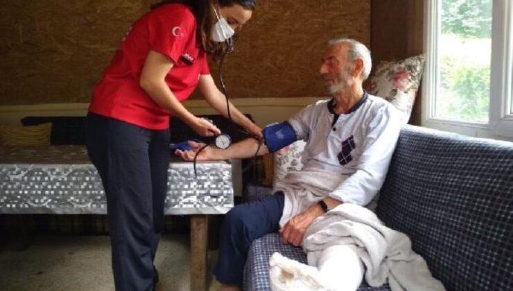 Rize'deki sağlık ekipleri ev ev gezerek sağlık kontrolü yaptı