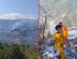 Suriye tarafında çıkan orman yangını Türkiye'ye sıçradı