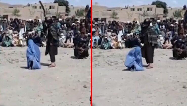 Telefonda erkekle konuşan Afgan kadın, herkesin içinde 40 kez kırbaçlandı