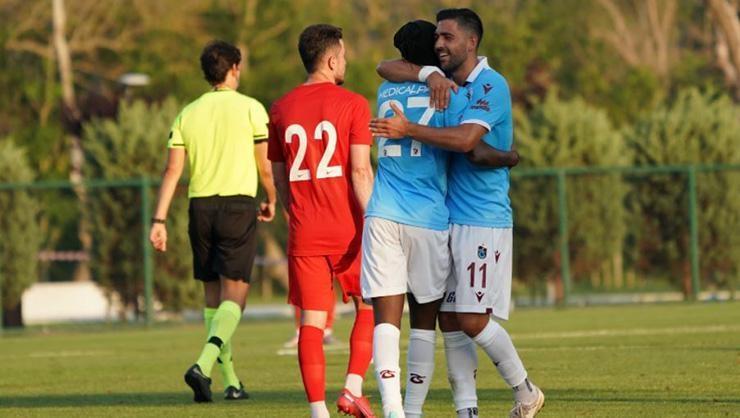 Trabzonsporda Gervinho, Koita ve Berat golle tanıştı