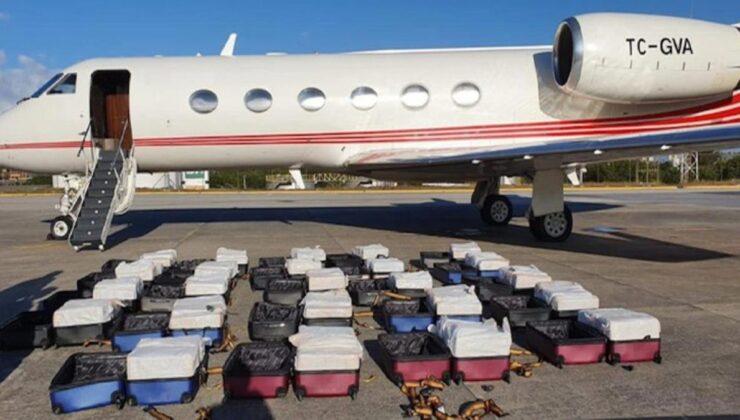 1.3 ton uyuşturucu madde ele geçirilen Türk jetinin pilotu operasyon sırasında motorları ateşleyip kaçmaya çalışmış