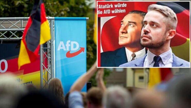 Almanya'daki aşırı sağcı partiden büyük skandal! Afişe Atatürk'ün resmini koyup 'O da bize oy verirdi' yazdılar