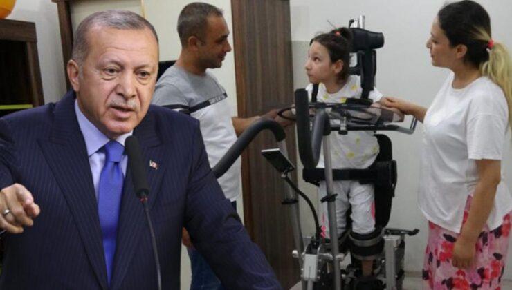 Cumhurbaşkanı Erdoğan, Serebral Palsi Hastası Yaren'in yüzünü güldürdü