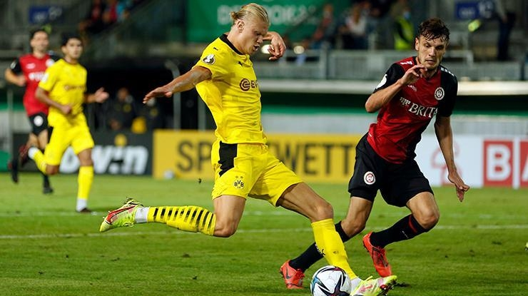 Erling Haaland şov! Wehen Wiesbaden-Borussia Dortmund maç sonucu:…