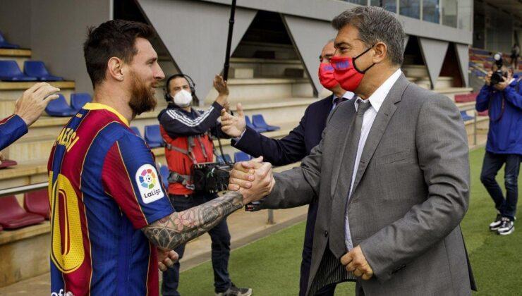 Lionel Messi, Joan Laportayı eleştirebilir! Barcelonada gerilim…