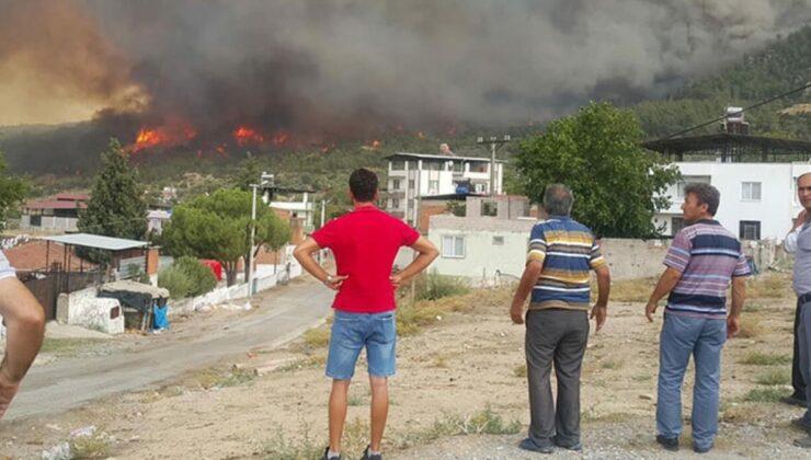Muğla'dan Aydın'a sıçrayan yangın Çine'yi kül ediyor! 6 mahalle boşaltıldı, alevlere müdahale sürüyor
