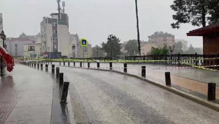Samsun'da sel ve taşkınlara karşı cami hoparlörlerinden uyarıda bulunuldu