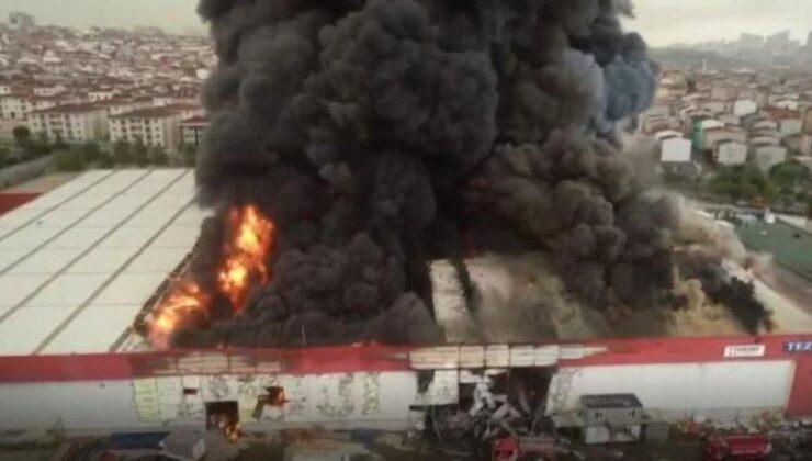 Son Dakika: Esenyurt'ta bir lojistik firmasında çıkan yangın 4 saatlik çalışmayla kontrol altına alındı