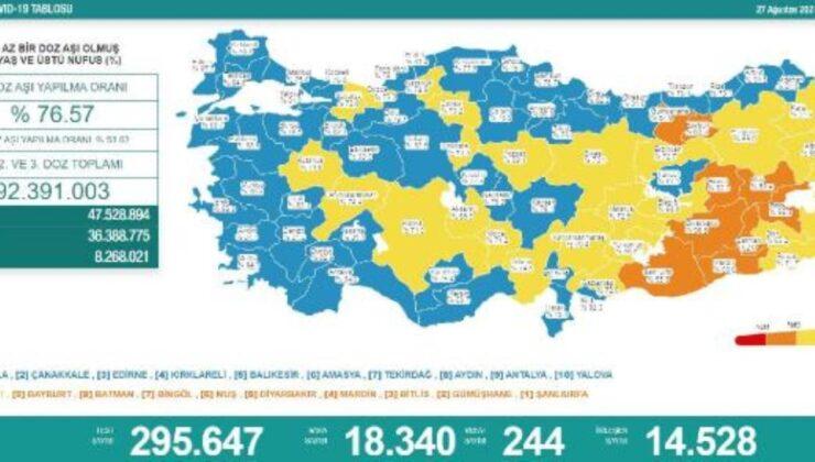 Son dakika haberleri… Koronavirüs salgınında günlük vaka sayısı 18bin 340oldu