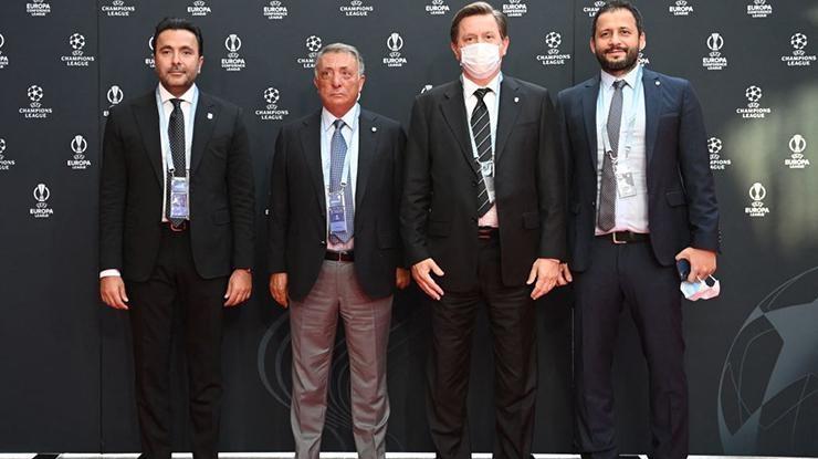 UEFA Şampiyonlar Ligi grup kurası öncesi kırmızı halı geçişi…