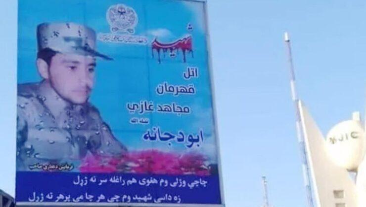 Ünlü Afgan generali öldüren Taliban üyesinin posterini şehir meydanına astılar