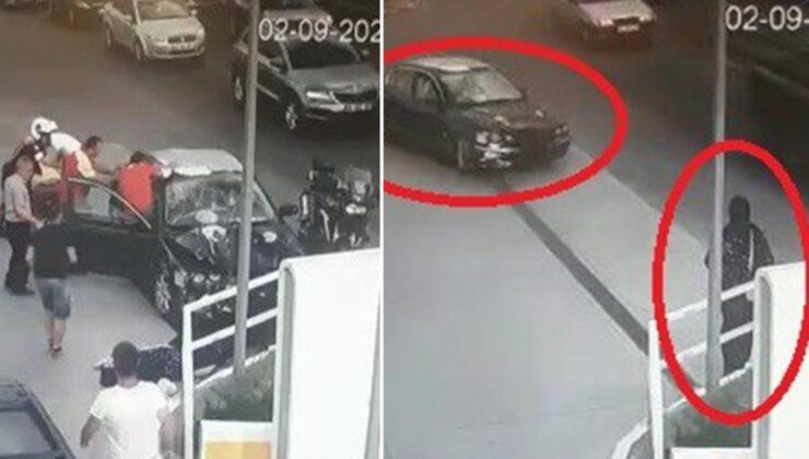 Polisten kaçan suç makinelerinin kullandığı araç, yol kenarında servis bekleyen kadına çarptı
