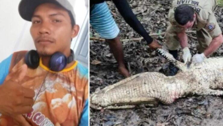 Ava giden balıkçı bir daha dönemedi! Ceset parçaları nehirdeki timsahın karnından çıktı
