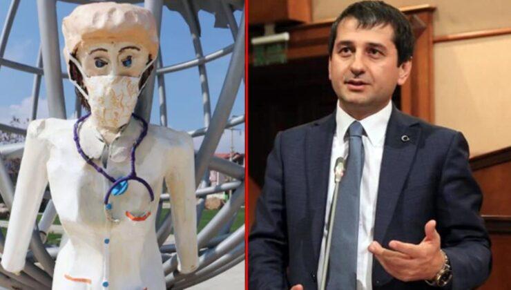 Heykel eleştirisi yapan İYİ Partili İbrahim Özkan, belediyeleri karıştırınca paylaşımını sildi