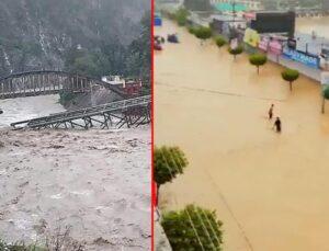 Hindistan ve Nepal sele teslim! Evlerin bile sularfelakette 116 kişi hayatını kaybetti