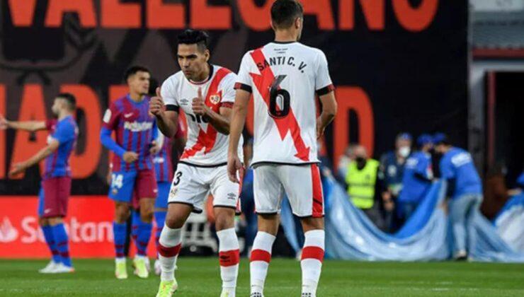 Rayo Vallecano, Falcao'nun golüyle Barcelona'yı yendi